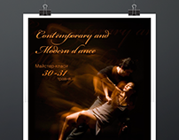 "Poster ""Contemporary and Modern dance"""