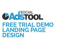 Social Ads Tool - Free Trial Demo Landing Page