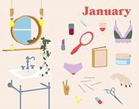 January — Illustration