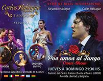 Diseño de flyer para Carlos Habiague Tango