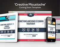 'Creative Moustache' HTML Coming Soon Template