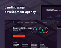 Landing page development agency
