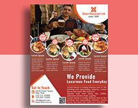 Free PSD Restaurant Flyer 100% Editable!