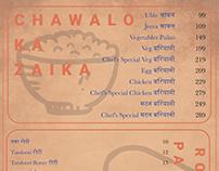 FoodShala Menu Card Design.
