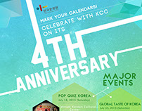 KCC 4th Anniversary Poster + more