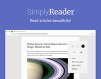 Simply Reader — Chrome extension