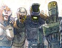 """""""The Scrap Gang"""" - Watercolor"""