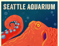 Seattle Aquarium Poster