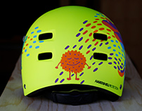 Monsters helmet illustration