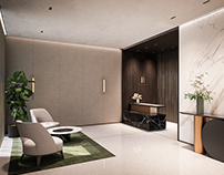 Reception hall - residential building Giannone 2 Milan