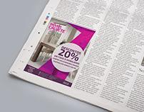20% Discount Campaign / Newspaper Advert