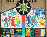 Solar Punk Ferropolis mural