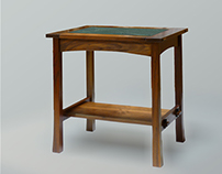 Walnut side table
