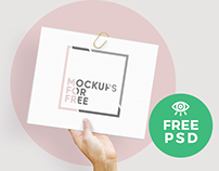Paper Mockup / Free PSD