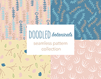 Doodled Botanicals- Seamless Pattern Collection