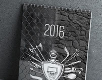 Calendar «Militantly sport» — 2016