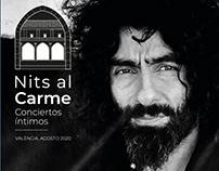 Nits Al Carme Festival. Graphic Design.