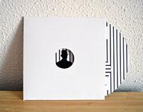 Wedding invite music cd rows black and white vintage