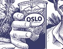 Iced coffee branding for Oslo Coffee