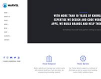 Home Start Page - Marvel WordPress Theme