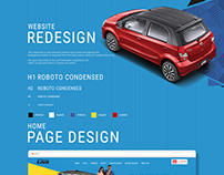 Website design for Toyota Etios Liva