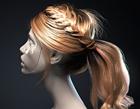 3D Realistic Hair. Tutorial.