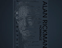 Hommage personnel à l'acteur Alan RICKMAN