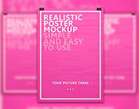 Free Realistic Poster Mockup
