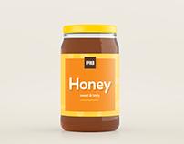 [FREE MOCKUP] Realistic Honey Jar Mockup