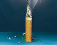 Illustration contre le tabagisme