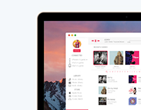 iTunes Design for macOS Sierra  -  Concept