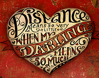 Long Distance Valentine's Day Card