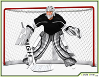 3D Model: Hockey Goalkeeper HQ 003