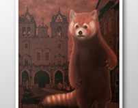 BIG RED PANDA // Poster