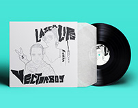 Laser Lips and Vectorboy vinyl cover design