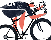 Cut Out Racer Cyclist