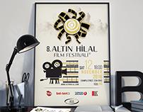 8 ALTIN HILAL FILM FESTIVAL - POSTER DESIGN