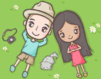 My Thai Love: Special Travel Date! (LINE Sticker)