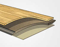 Technical Illustration - Bamboo Flooring Boards