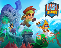 Dash Legends mobile game art
