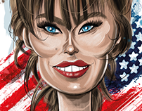 Melania Trump Caricarure