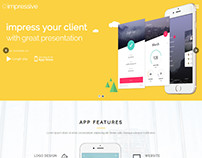 Impressive – Presentation Page and App Landing Page