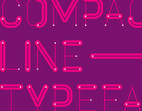 Compact Line Typeface