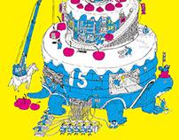 府中15 周年慶 主視覺插畫與DM設計