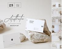 Aesthetic Stationary Photo Mockup Set
