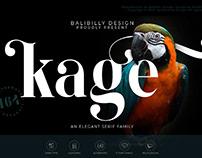Kage-Elegant Serif Typeface