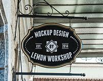 Logo Mockup Black Vintage Sign