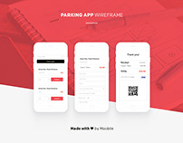 Parking app wireframe
