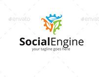 Social Engine Logo Template