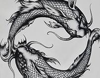 Koi Fish Yin and Yang